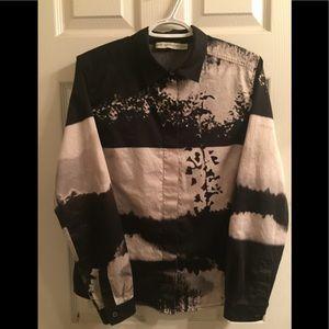 Mary Katrantzou Designer Print Button Dress Shirt